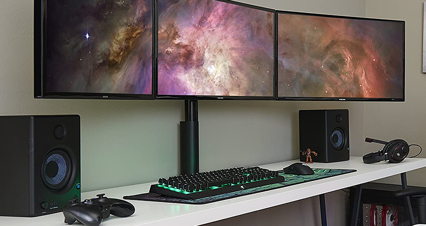 best desks for triple monitors